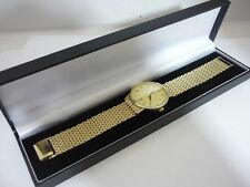 Stunning & Rare Men's Gold Plated Sterling Silver Rotary Watch Model No 13171