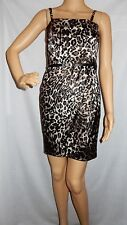"""GUESS"" - AS NEW PREOWNED - Size 1 - ""BLACK/BEIGE"" Leopard Formal/Party Dress"