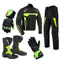 Motorbike trousers Motorcycle helmets biker boots Suit Motorcycle Jacket Gloves