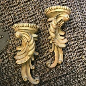 "1 Set (2) Decorative Wall Sconce Shelves 4 1/2"" Wide x 12"" High"