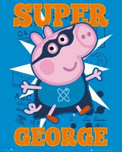 Peppa Pig Poster Peppa Pig A4 Poster Laminated Super George Poster