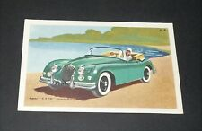 CPA CARTE POSTALE 1960 CHOCOLAT TOBLER AUTOMOBILE JAGUAR X.K.150 GREAT-BRITAIN