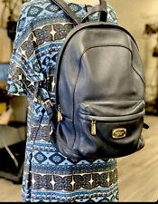 Michael Kors Navy Blue Abbey Jetset Leather Backpack Large - EUC Retail $298