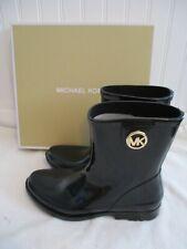 Michael Kors Benji Rain Boots Size 8 Black Rubber Pull On Boots Waterproof NEW!