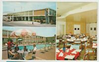 Unused Postcard Capitol Park Inn Nashville Tennessee TN 3 views Pool Dining Room