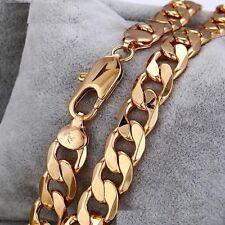 "9ct 9K "" Gold Filled "" 12.5 mm Heavy Curb Link Men Bracelet SOLD 570 Qty Xmas"