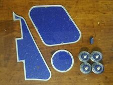 Pickguard,Back Plates,Knobs and Tip.. Blue Flake/Silver Fits Gibson Les Paul JAT