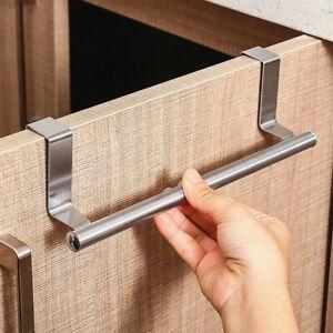 Towel Bar Rack Hanging Holder For Kitchen Bathroom Cabinet Shelf Rail au
