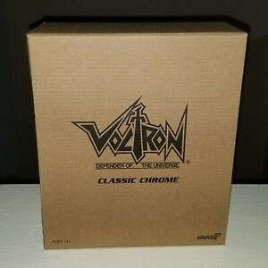 Super7 Ultimates Voltron Toy Deco Classic Chrome In Hand