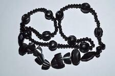VINTAGE VICTORIAN NECKLACE WITH WITH VARIETY OF BEADS - WHITBY JET, FRENCH JET
