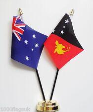 Australia & Papua New Guinea Double Friendship Table Flag Set