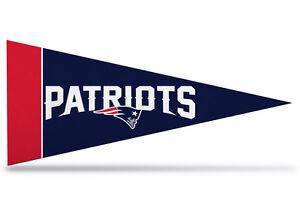 "Patriots  Mini Pennant 9""x4"", New, Felt, Made in USA"