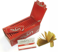 MOON RED Cut Corners Rolling Papers 70*36mm 50 Booklets=2500 leaves with TIPS