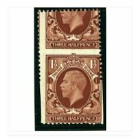Sg441var 1½d Red Brown DRAMATIC Perf Shift -  Leaving Partially Imperf example