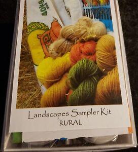 CRAZY Landscape Dye Kits for wool silk etc fiber yarn RURAL 6 pk & Instructions