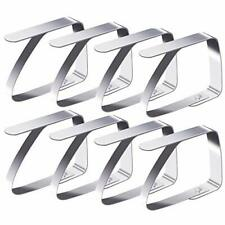 Blooven Tablecloth Clips 8 Pack Stainless Steel Table Cover Clamps Table Cloth