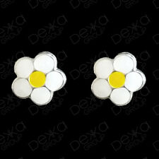 925 Sterling Silver White Flower Daisy Stud Earrings Studs Girls Children Women