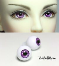 1/3 1/4 1/6 bjd 16mm acrylic doll eyes purple full eyeball dollfie AE-59 ship US