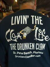 """DRUNKEN CLAM BAR ST PETE BEACH T SHIRT""""CLAM LIFE"""" MENS SHORT SLEEVE XL Ex Large"""