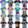 5XL Womens/Mens Dragon Ball Z Character Goku Vegeta 3D Print Casual T-Shirt Tee