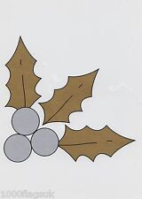 Christmas Cling On Vinyl Car Window Sticker - Holly Berry cc21