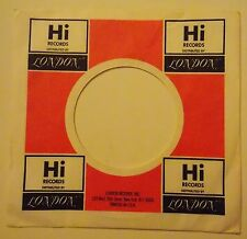 "HI RECORDS/LONDON RECORDS 7"" 45 RPM Original Record Company Sleeve ~ USED ~"