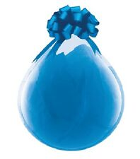 """(6) CLEAR 18"""" Crystal Diamond Stuffing Gifts Latex Quality Deluxe Party Balloons"""