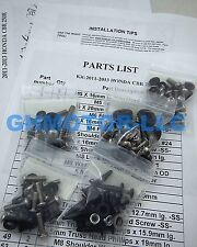 NEW 2011 2012 2013 CBR 250R SILVER COMPLETE FAIRING BOLTS FASTENERS SCREW KIT US