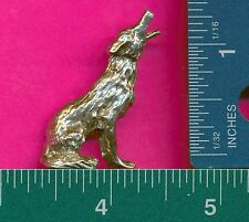 6 wholesale lead free pewter wolf figurines D4077