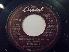 April Wine Just Between You And Me / Big City Girls 45 1981 Capitol Vinyl Record
