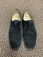 Salvatore Ferragamo Black Suede Men's Dress Shoes Studio Size 8d