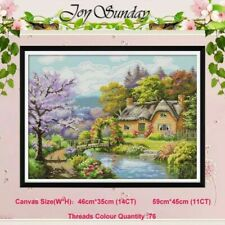 Joy dimanche Entièrement neuf sous emballage PRETTY PEACH Fruit Disque Cross stitch kit 14 Ct Taille 34 X 34 cm