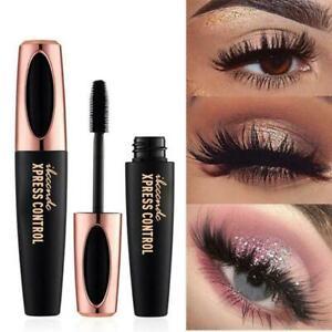 Women Black Eye Lashes Big Eyes Silk Fiber Eyelash Make-up 4D Extension Mas  NEW