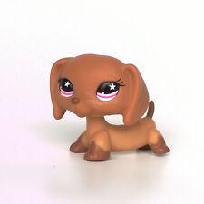 Rare Littlest Pet Shop Dachshund Dog Puppy Tan with Pink Star Eyes #932