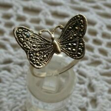 """Marcasite """"Butterfly"""" Ring- Sterling Silver .925- Sz. 7 - NEW"""