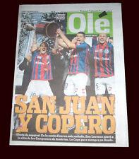 SAN LORENZO LIBERTADORES DE AMÉRICA CUP CHAMPION  RARE Newspaper 2014