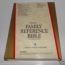 1989 Nelson Family Reference Bible King James Version - NEW IN BOX