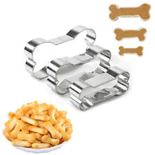 3Pcs Dog Bone Pet Cookie Cutter Pastry Biscuit Stainless Steel Mold Baking Tools