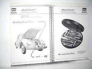 "VW VOLKSWAGEN VINTAGE HAZET CATALOG PAGE PHOTO COPY OF ""HAZET- TOURIST"" TOOL BOX"