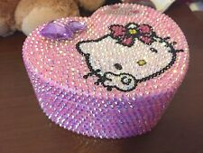 Bling Hello Kitty Heartshaped Crystal Diamond Jewelry, Cosmetic or Storage Box!