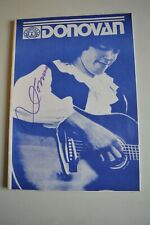 More details for donovan programme signed on front cover  ( 1990s )