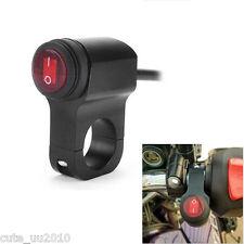 Waterproof LED Handlebar Headlight Fog Spot light On Off Switch For Motorcycle