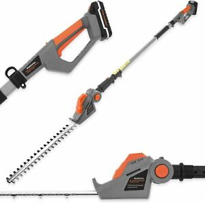 Long Reach Cordless Hedge Trimmer Battery Telescopic Electric Pole Cutter