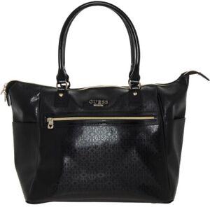 GUESS Black Ladies Travel Tote Bag, Women's Weekend Large Holiday Handbag