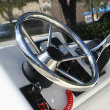 13.5'' Boat Steering Wheel 316 Stainless Steel 25Degree 5 Spoke For Marine Yacht