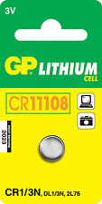 GP Lithium Button Battery CR1/3N (DL1/3N) card of 1 [WATCH & CALCULATOR + OTHER]