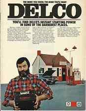 DELCO BATTERY 1973 VINTAGE MAGAZINE AD   INV#161