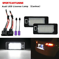 For Audi A4 A5 S5 Q5 TT RS5 TTR 2PC Canbus White LED License Plate Lights Lamps