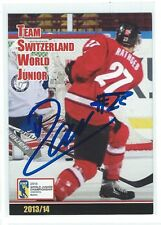 Yannick Rathgeb Signed Plymouth Whalers Team Issued Card HC Fribourg-Gottéron