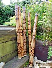 More details for fair trade hand carved made bamboo burnt aboriginal style woodwind didgeridoo